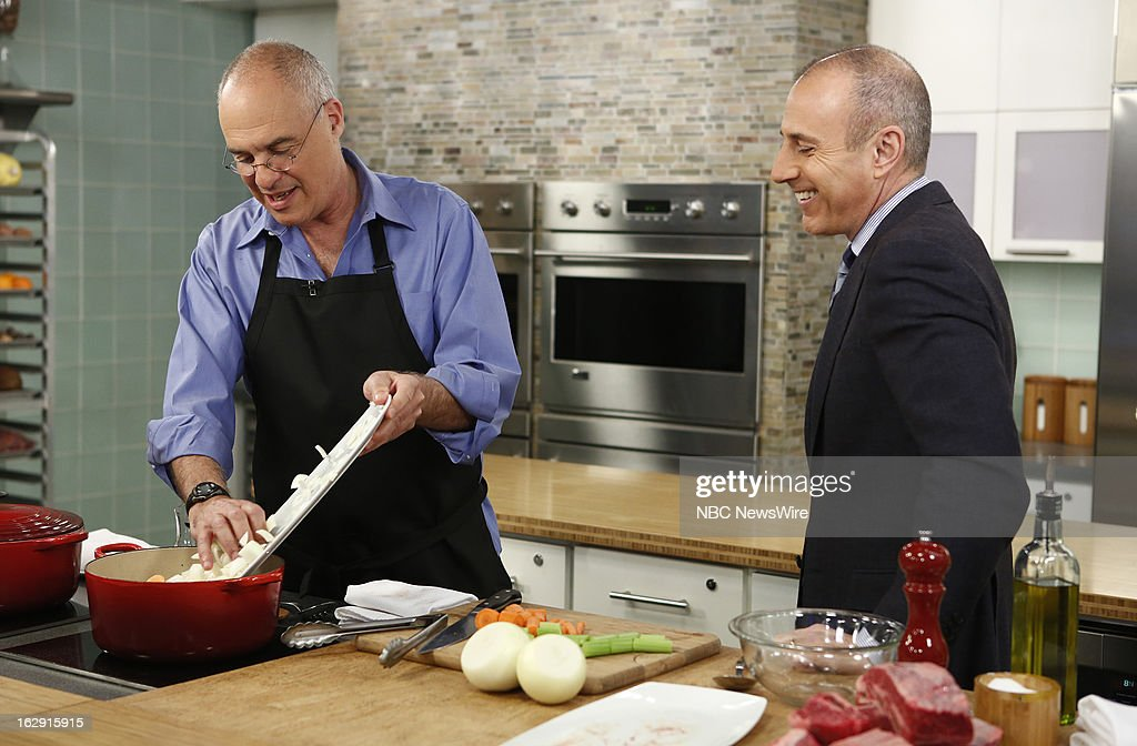 Mark Bittman and Matt Lauer appear on NBC News' 'Today' show --