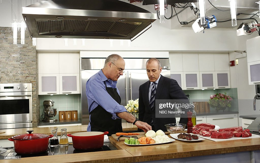 Mark Bittman and Matt Lauer appear on NBC News' 'Today' show --