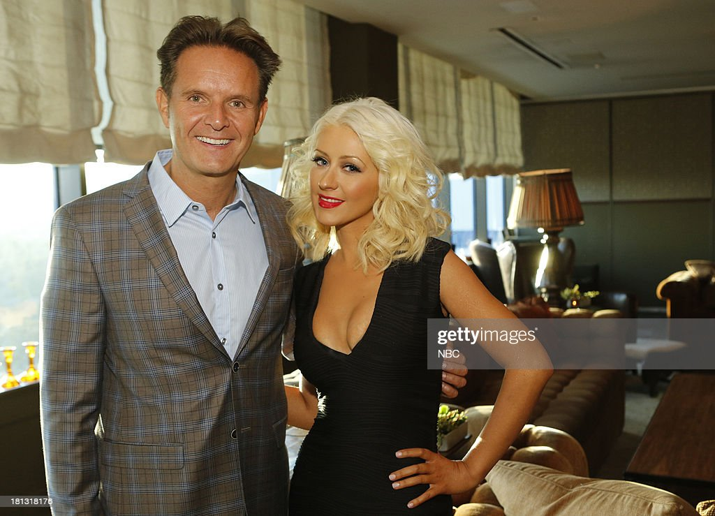 Mark Burnett, Executive Producer and Christina Aguilera at an intimate dinner event for Season 5 of 'The Voice' in West Hollywood, CA. 'The Voice' premieres on Monday, September 23rd at 8pm --