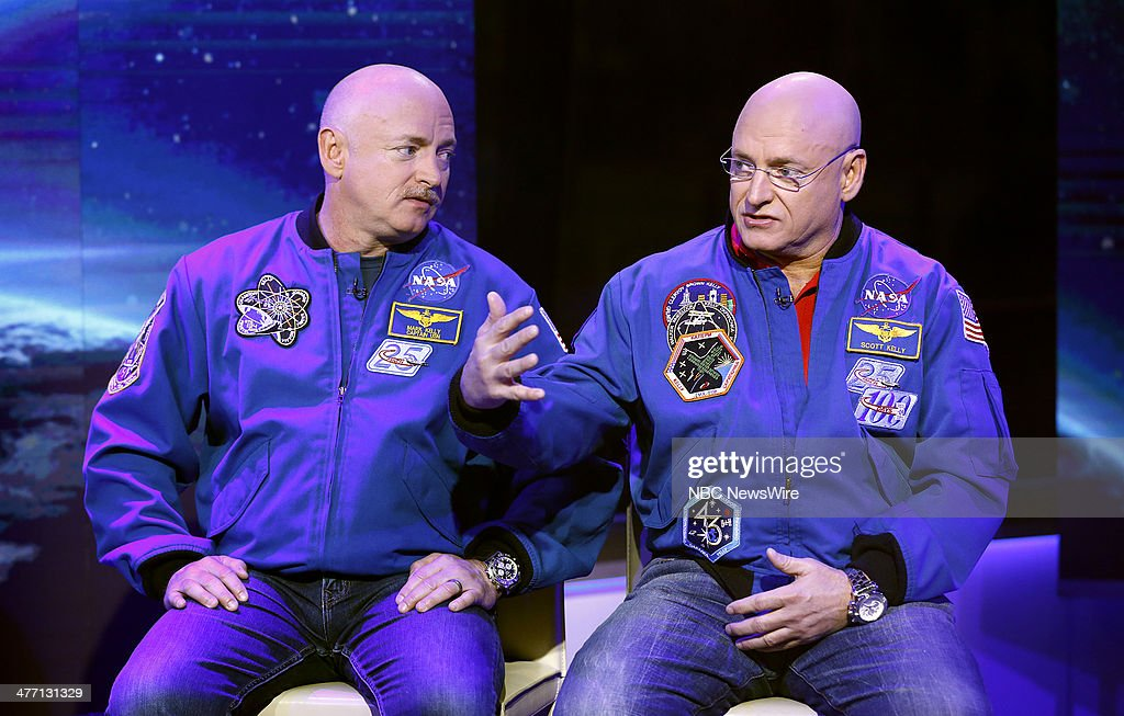 Mark Kelly and Scott Kelly appear on NBC News' 'Today' show --