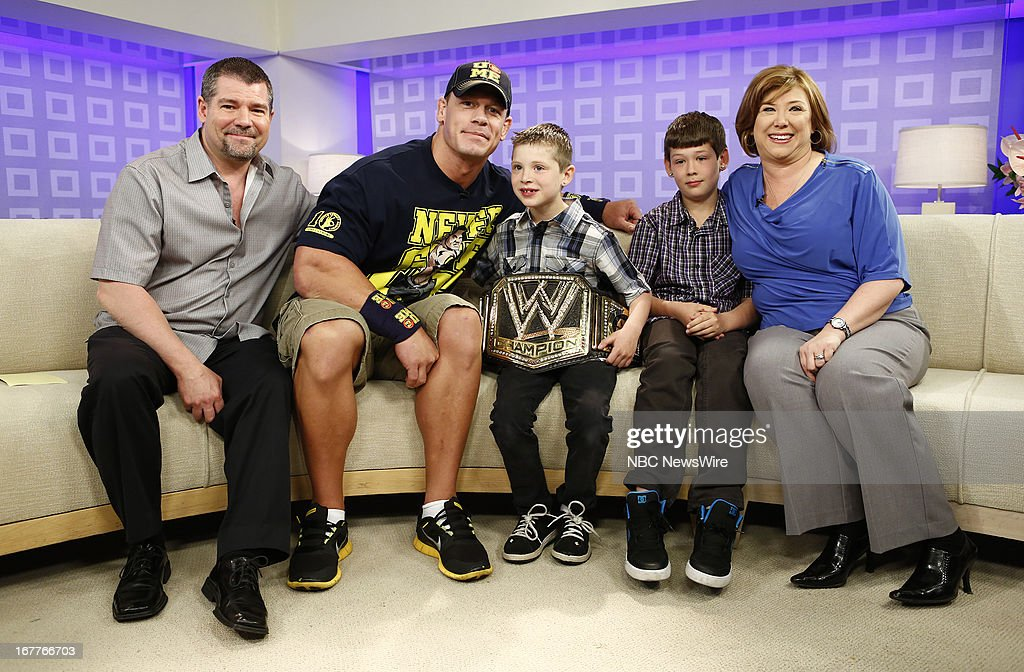 Mark Santillo, John Cena, Nick Santillo, Dominick Santillo and Victoria Santillo appear on NBC News' 'Today' show --