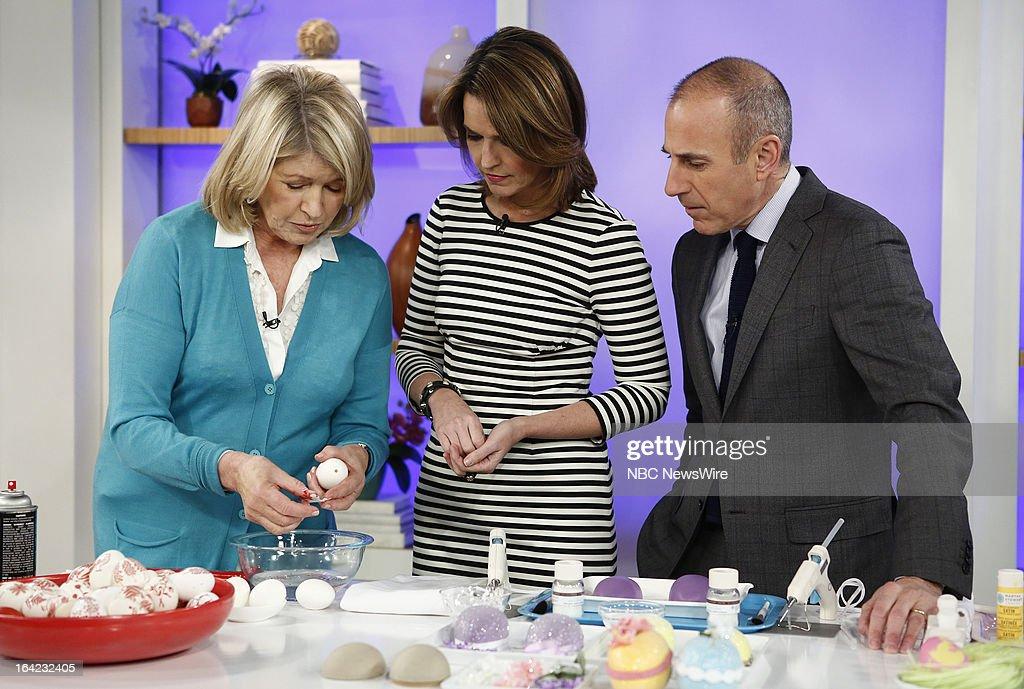Martha Stewart, NBC News' Savannah Guthrie and Matt Lauer appear on NBC News' 'Today' show on March 21, 2013 --