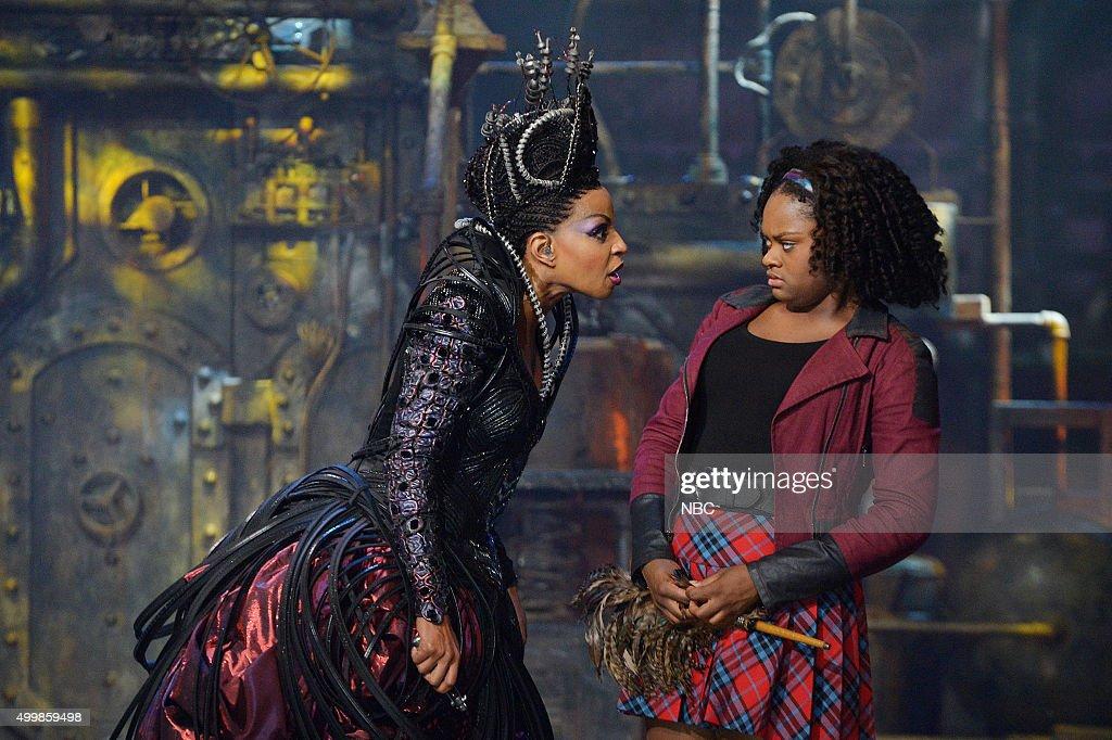 Mary J. Blige as Evillene, Shanice Williams as Dorothy --