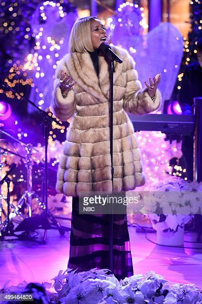"""Mary J Blige rehearses for NBC's """"Christmas in Rockefeller Center"""""""