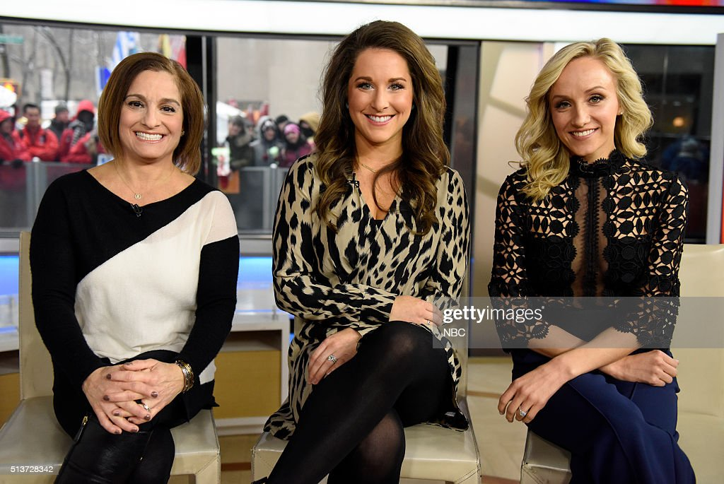 Mary Lou Retton, Carly Patterson, and Nastia Liukin appear on the 'Today' show on Friday, March 4, 2016 in New York --