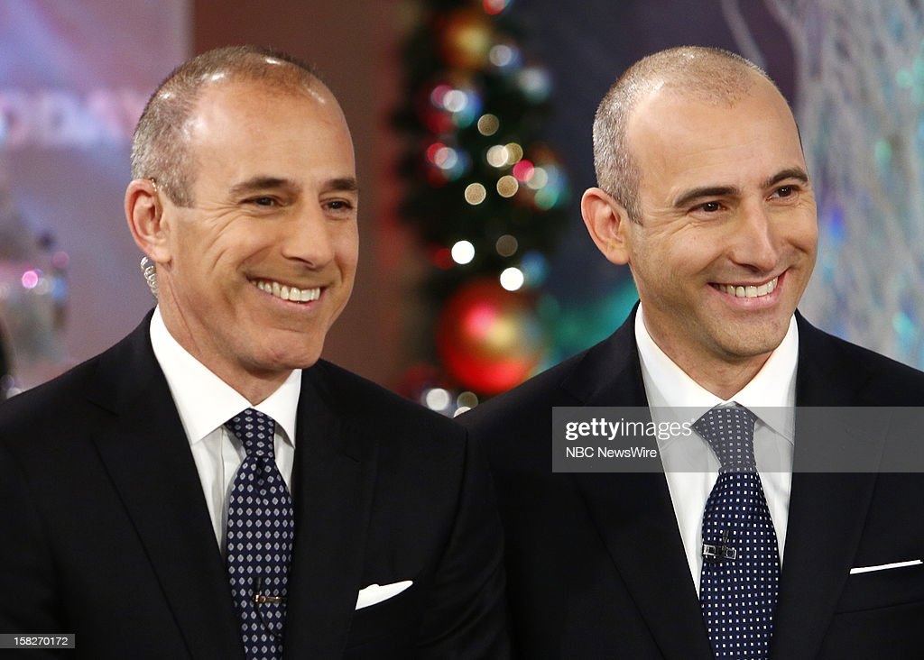 Matt Lauer and a look-alike appear on NBC News' 'Today' show --
