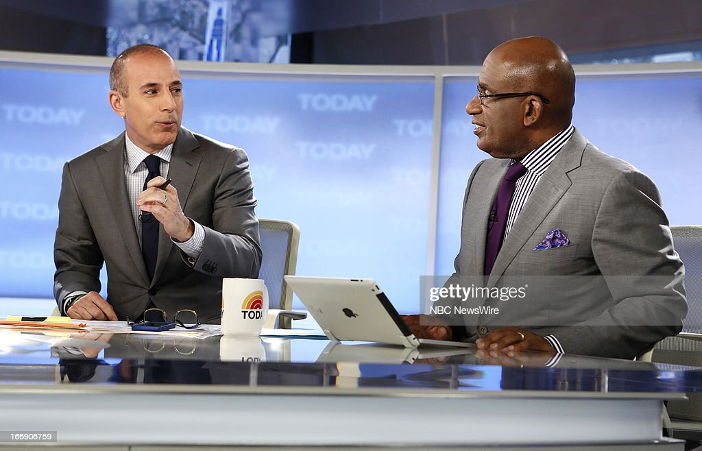Matt Lauer and Al Roker appear on NBC News' 'Today' show --