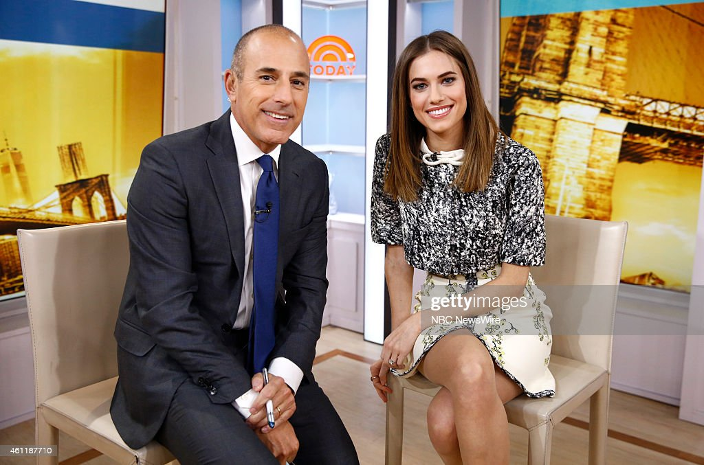 Matt Lauer and Allison Wiiliams appear on NBC News' 'Today' show