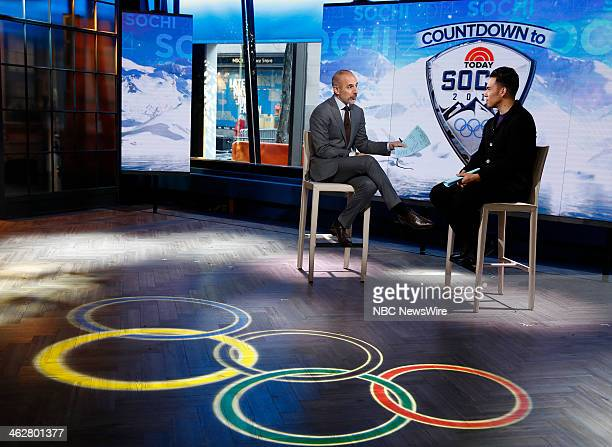 Matt Lauer and Apolo Anton Ohno appear on NBC News' 'Today' show