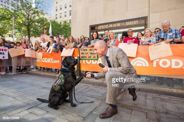 Matt Lauer and Charlie on Thursday June 29 2017