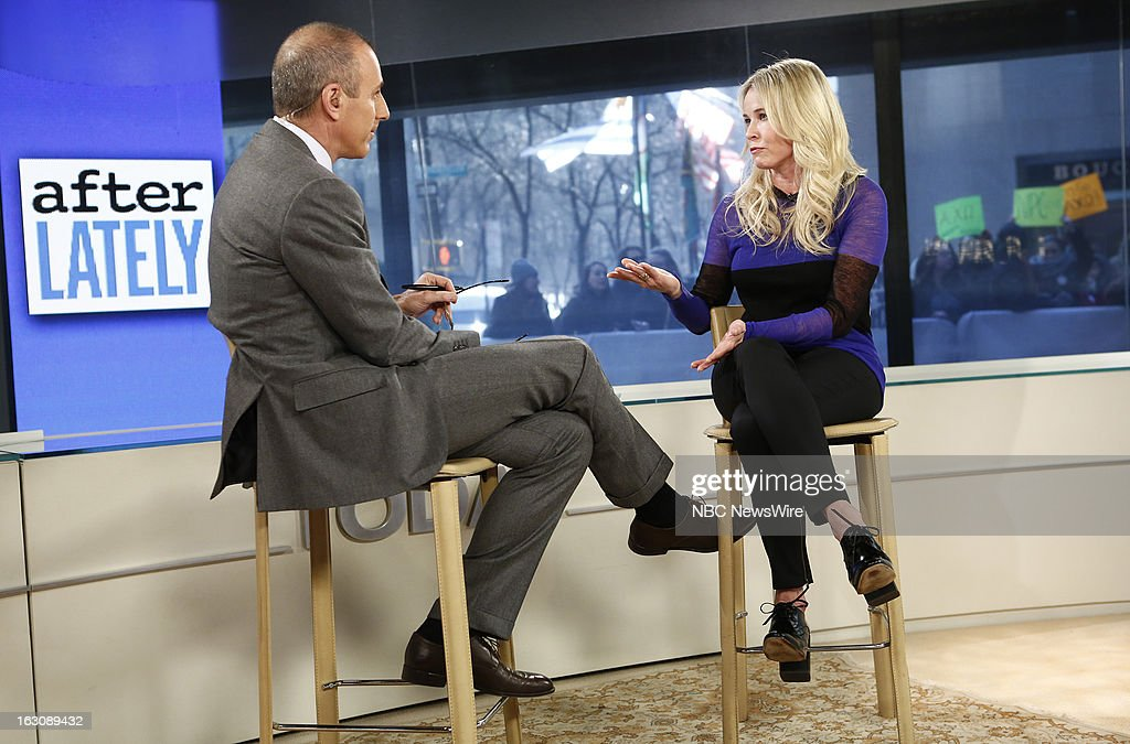 Matt Lauer and Chelsea Handler appear on NBC News' 'Today' show --