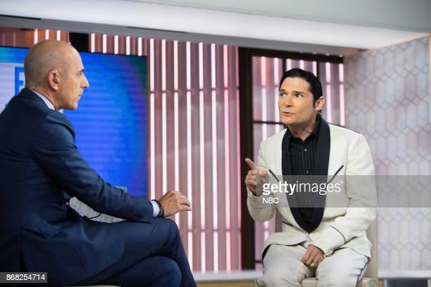Matt Lauer and Corey Feldman on Monday October 30 2017