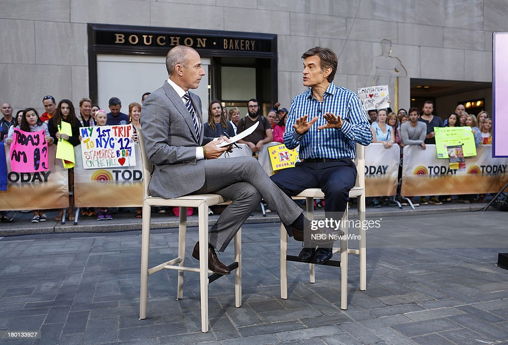 <a gi-track='captionPersonalityLinkClicked' href=/galleries/search?phrase=Matt+Lauer&family=editorial&specificpeople=206146 ng-click='$event.stopPropagation()'>Matt Lauer</a> and Dr. <a gi-track='captionPersonalityLinkClicked' href=/galleries/search?phrase=Mehmet+Oz&family=editorial&specificpeople=4175862 ng-click='$event.stopPropagation()'>Mehmet Oz</a> appear on NBC News' 'Today' show --