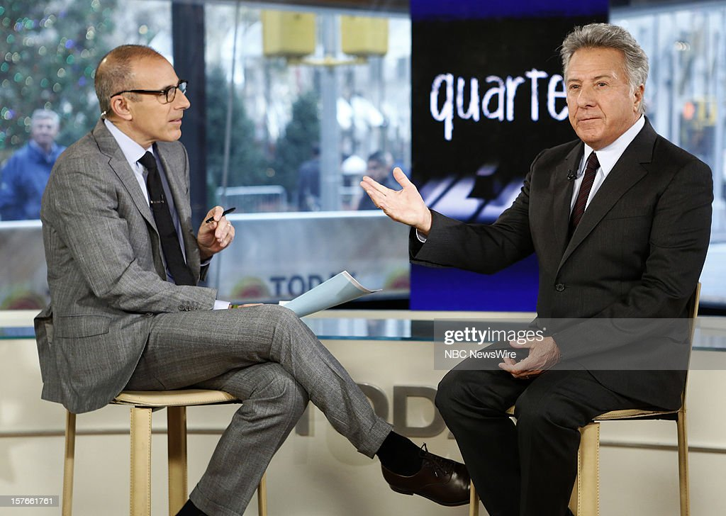 Matt Lauer and Dustin Hoffman appear on NBC News' 'Today' show --