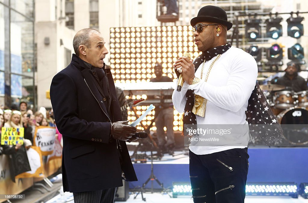 Matt Lauer and Flo Rida appear on NBC News' 'Today' show --