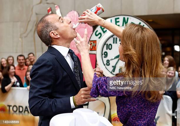 Matt Lauer and Giada De Laurentiis appear on NBC News' 'Today' show