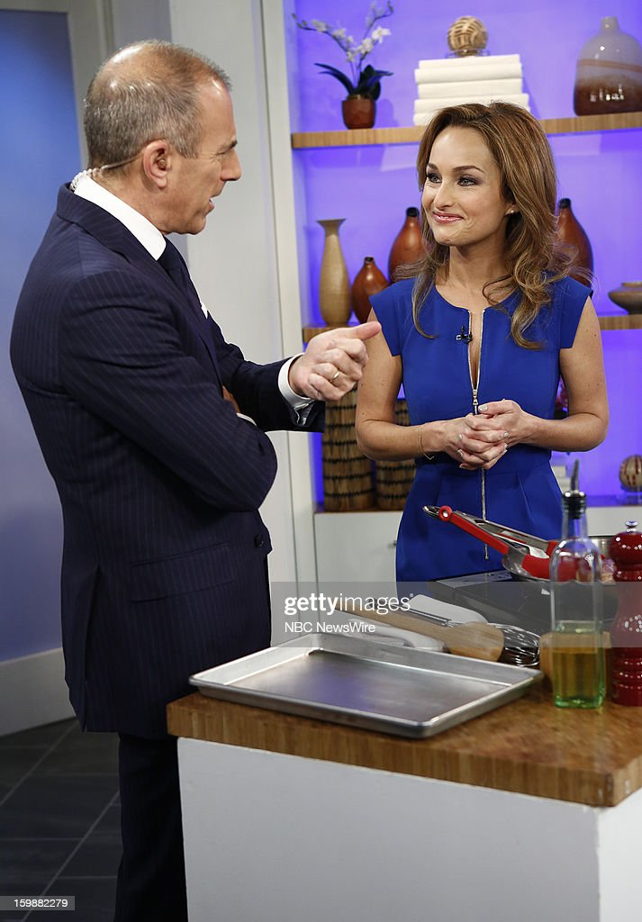 Matt Lauer and Giada de Laurentiis appear on NBC News' 'Today' show --
