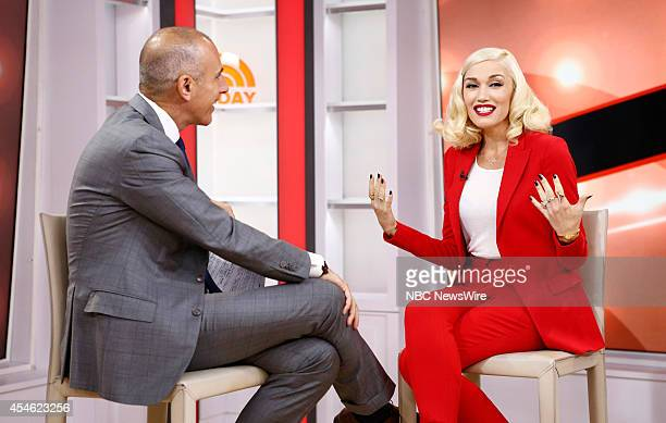 Matt Lauer and Gwen Stefani appear on NBC News' 'Today' show