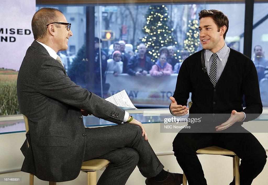 Matt Lauer and John Krasinski appear on NBC News' 'Today' show --
