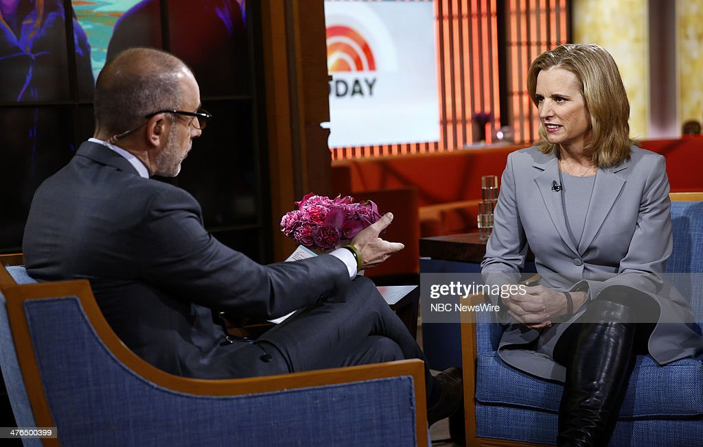 Matt Lauer and Kerry Kennedy appear on NBC News' 'Today' show --