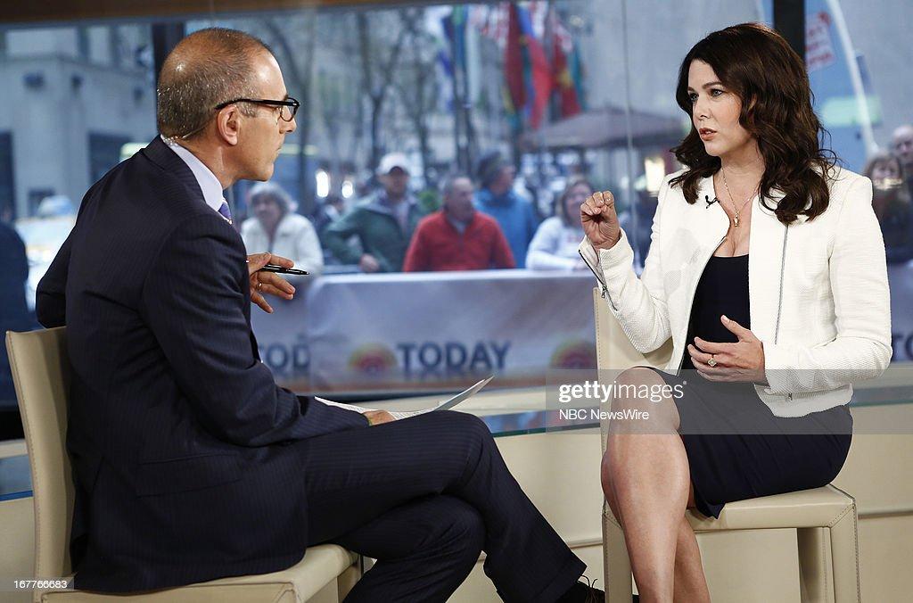 Matt Lauer and Lauren Graham appear on NBC News' 'Today' show --