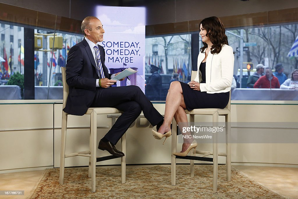 Matt Lauer and Lauren Graham appear on NBC News' 'Today' show --