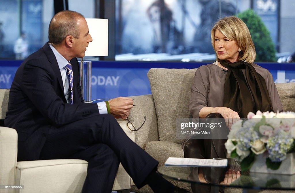 Matt Lauer and Martha Stewart appear on NBC News' 'Today' show --