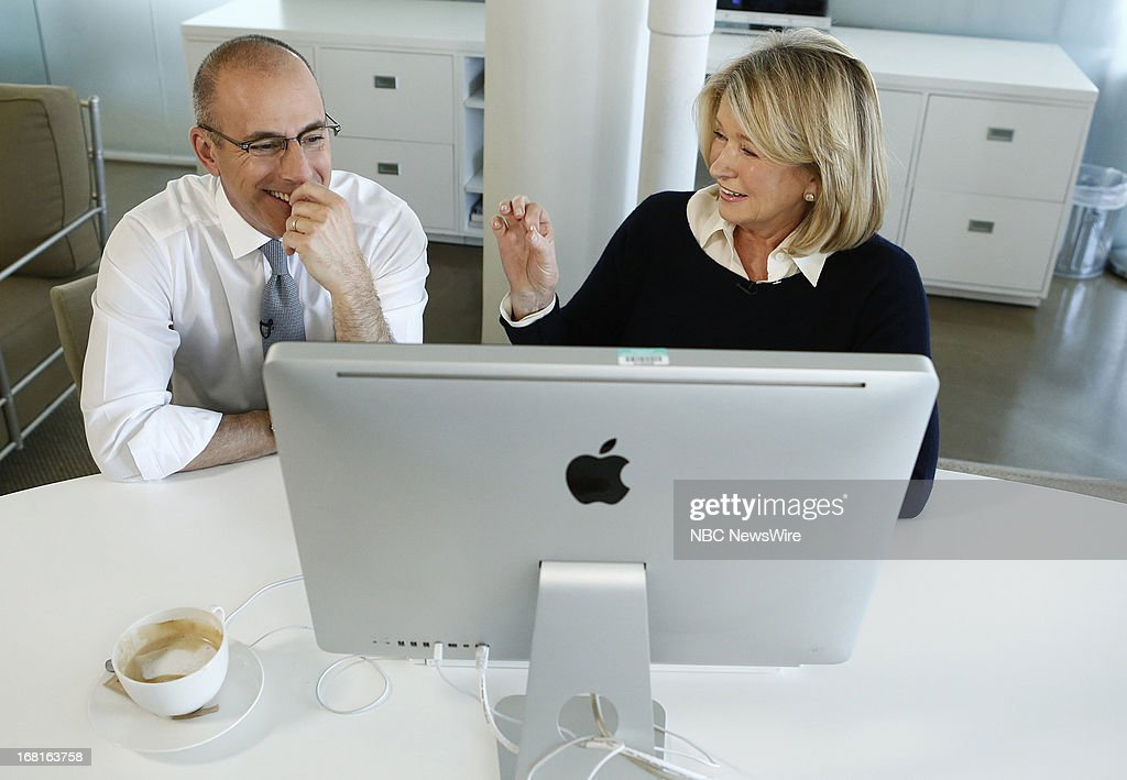 Matt Lauer and Martha Stewart appear on NBC News' 'Today' show on May 6, 2013 --