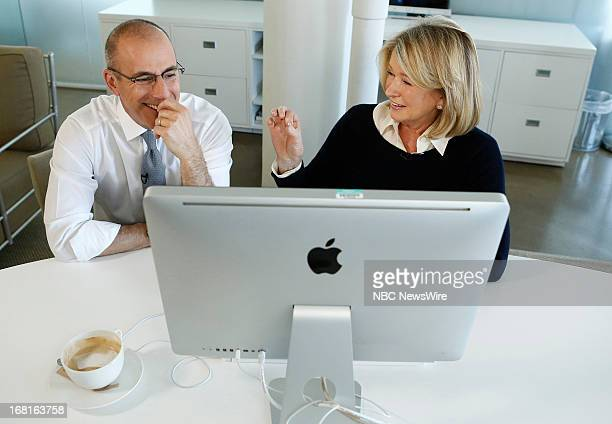 Matt Lauer and Martha Stewart appear on NBC News' 'Today' show on May 6 2013