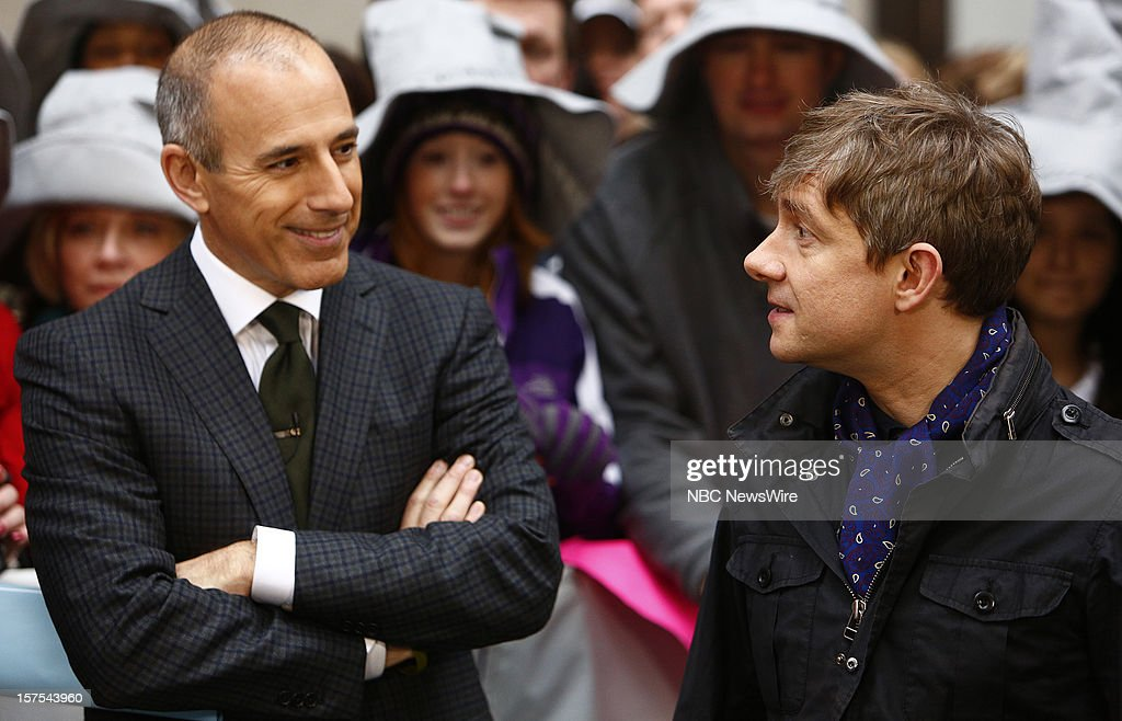<a gi-track='captionPersonalityLinkClicked' href=/galleries/search?phrase=Matt+Lauer&family=editorial&specificpeople=206146 ng-click='$event.stopPropagation()'>Matt Lauer</a> and <a gi-track='captionPersonalityLinkClicked' href=/galleries/search?phrase=Martin+Freeman&family=editorial&specificpeople=214753 ng-click='$event.stopPropagation()'>Martin Freeman</a> appear on NBC News' 'Today' show --