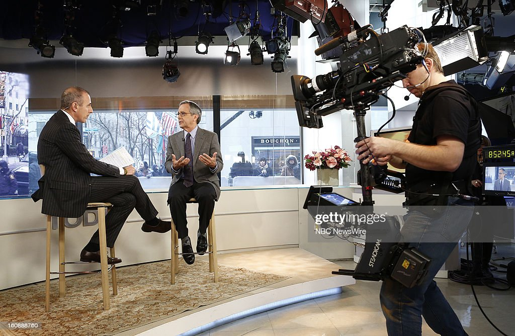 Matt Lauer and Mike Lupica appear on NBC News' 'Today' show --