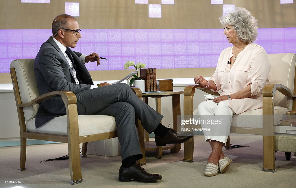 <a gi-track='captionPersonalityLinkClicked' href=/galleries/search?phrase=Matt+Lauer&family=editorial&specificpeople=206146 ng-click='$event.stopPropagation()'>Matt Lauer</a> and <a gi-track='captionPersonalityLinkClicked' href=/galleries/search?phrase=Paula+Deen&family=editorial&specificpeople=875895 ng-click='$event.stopPropagation()'>Paula Deen</a> appear on NBC News' 'Today' show --