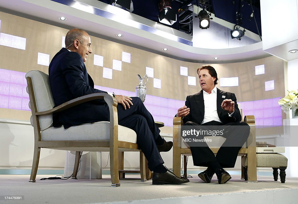 <a gi-track='captionPersonalityLinkClicked' href=/galleries/search?phrase=Matt+Lauer&family=editorial&specificpeople=206146 ng-click='$event.stopPropagation()'>Matt Lauer</a> and <a gi-track='captionPersonalityLinkClicked' href=/galleries/search?phrase=Phil+Mickelson&family=editorial&specificpeople=157543 ng-click='$event.stopPropagation()'>Phil Mickelson</a> appear on NBC News' 'Today' show --