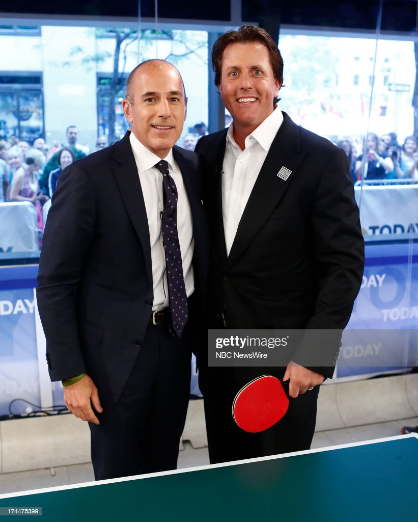 Matt Lauer and Phil Mickelson appear on NBC News' 'Today' show --