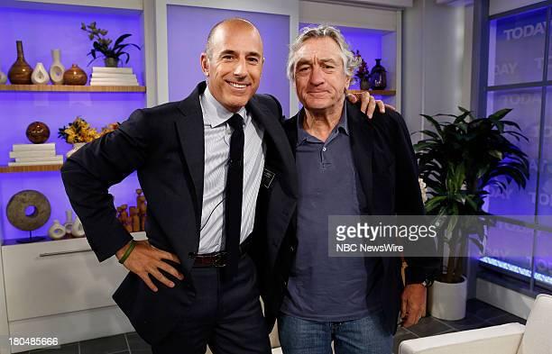 Matt Lauer and Robert De Niro appear on NBC News' 'Today' show