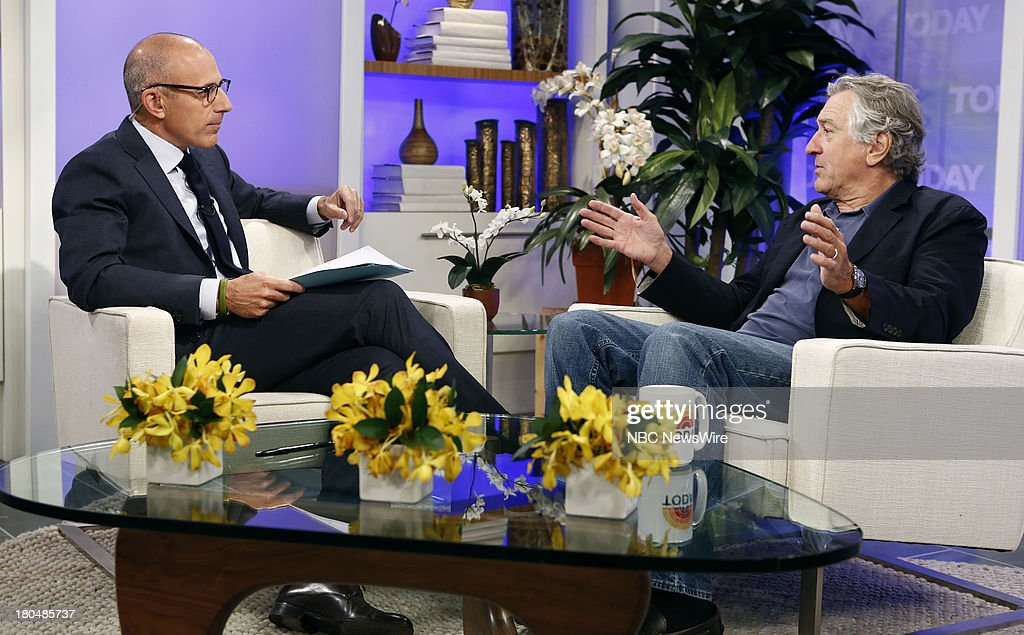 <a gi-track='captionPersonalityLinkClicked' href=/galleries/search?phrase=Matt+Lauer&family=editorial&specificpeople=206146 ng-click='$event.stopPropagation()'>Matt Lauer</a> and <a gi-track='captionPersonalityLinkClicked' href=/galleries/search?phrase=Robert+De+Niro&family=editorial&specificpeople=201673 ng-click='$event.stopPropagation()'>Robert De Niro</a> appear on NBC News' 'Today' show --