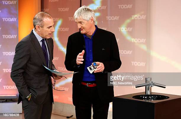 Matt Lauer and Sir James Dyson appear on NBC News' 'Today' show