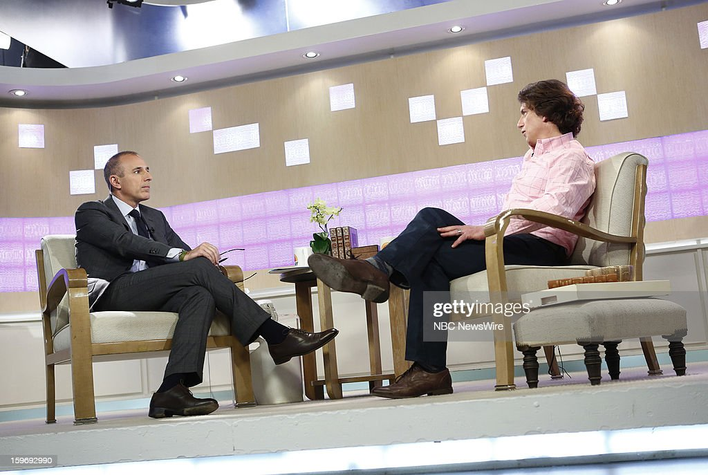 Matt Lauer and Tyler Hamilton appear on NBC News' 'Today' show --
