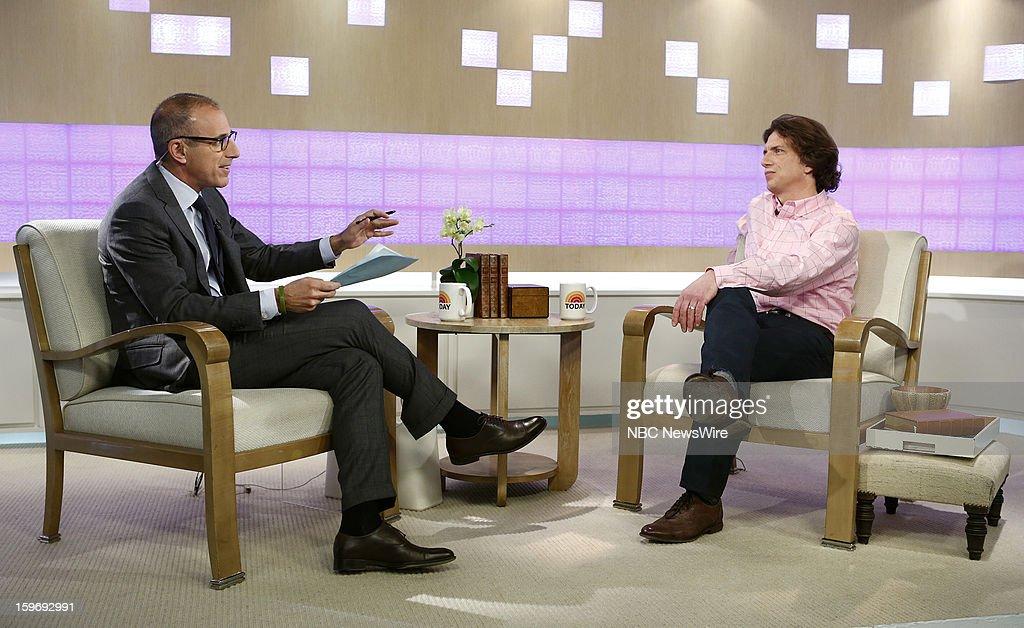 Matt Lauer and Tyler Hamilton appear on NBC News' 'Today' show --
