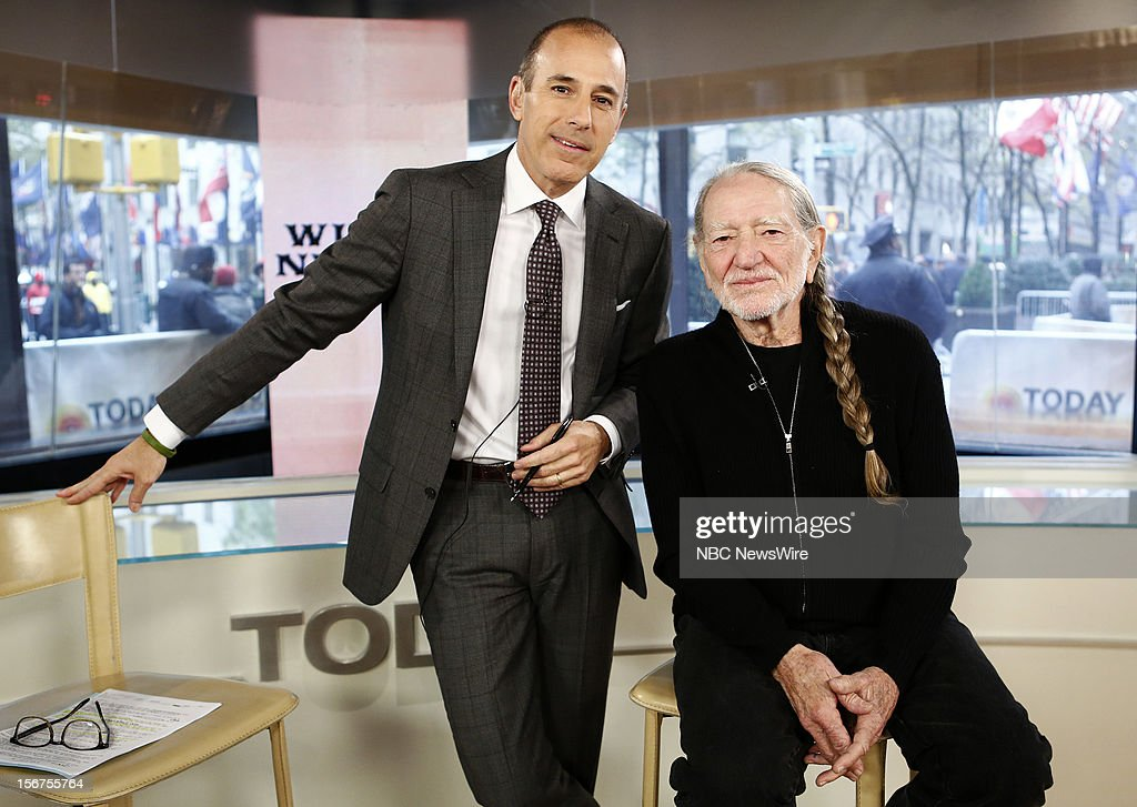 <a gi-track='captionPersonalityLinkClicked' href=/galleries/search?phrase=Matt+Lauer&family=editorial&specificpeople=206146 ng-click='$event.stopPropagation()'>Matt Lauer</a> and <a gi-track='captionPersonalityLinkClicked' href=/galleries/search?phrase=Willie+Nelson&family=editorial&specificpeople=203154 ng-click='$event.stopPropagation()'>Willie Nelson</a> appear on NBC News' 'Today' show --