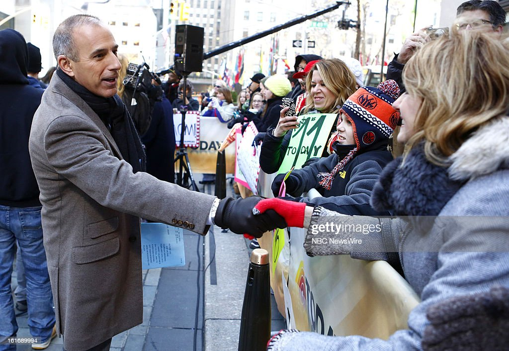 Matt Lauer appears on NBC News' 'Today' show --