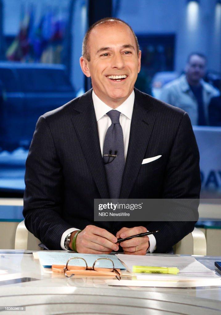 Matt Lauer appears on NBC News' 'Today' show