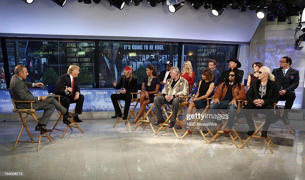 Matt Lauer, Donald Trump, Bret Michaels, Claudia Jordan, Dennis Rodman, Gary Busey, Brande Roderick, Lisa Rinna, Stephen Baldwin, Lil Jon, Trace Adkins, Marilu Henner, Dee Snider and Penn Jillette appear on NBC News' 'Today' show --