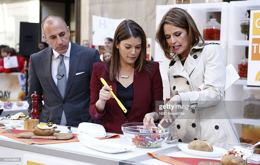 <a gi-track='captionPersonalityLinkClicked' href=/galleries/search?phrase=Matt+Lauer&family=editorial&specificpeople=206146 ng-click='$event.stopPropagation()'>Matt Lauer</a>, <a gi-track='captionPersonalityLinkClicked' href=/galleries/search?phrase=Gail+Simmons&family=editorial&specificpeople=4337508 ng-click='$event.stopPropagation()'>Gail Simmons</a> and <a gi-track='captionPersonalityLinkClicked' href=/galleries/search?phrase=Savannah+Guthrie&family=editorial&specificpeople=653313 ng-click='$event.stopPropagation()'>Savannah Guthrie</a> appear on NBC News' 'Today' show --