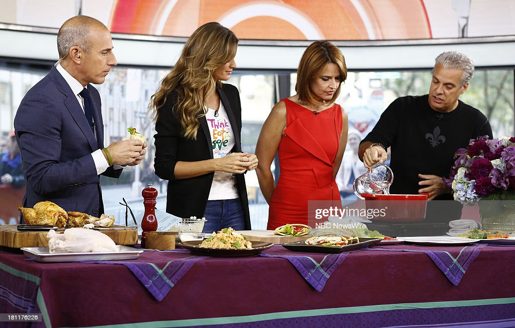 Matt Lauer, Gisele Bundchen, Savannah Guthrie and Eric Ripert appear on NBC News' 'Today' show --