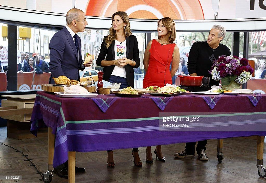 Matt Lauer, Gisele Bundchen, Savannah Guthrie and Eric Ripert appear on NBC News' 'Today' show --