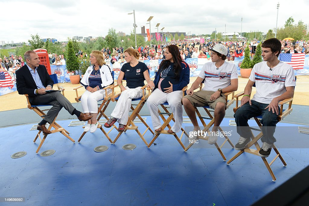 <a gi-track='captionPersonalityLinkClicked' href=/galleries/search?phrase=Matt+Lauer&family=editorial&specificpeople=206146 ng-click='$event.stopPropagation()'>Matt Lauer</a>, Ileana Lochte, Ryan Lochte's family during the 2012 Summer Olympic Games on July 31, 2012 in London, England --