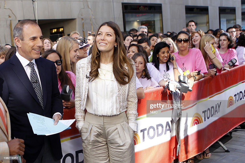 Matt Lauer Jessica Biel 'Today' cohosts talk to Jessica Biel about 'The ATeam'