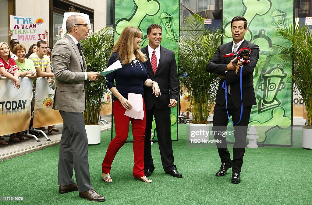 Matt Lauer, Jill Rappaport, Richard Gentles and Carson Daly appear on NBC News' 'Today' show --
