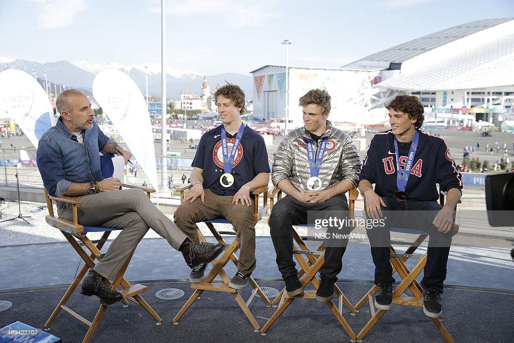 Matt Lauer, Joss Christenson, Gus Kenworthy, Nick Goepper from the 2014 Olympics in Socci --